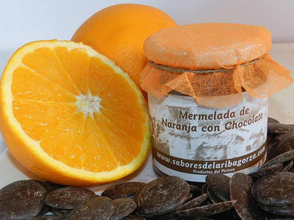 mermelada naranja chocolate sabores ribagorza slow food pirineos
